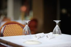 Stylish outdoor cafe Royalty Free Stock Photography