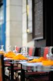 Stylish outdoor cafe Royalty Free Stock Photos