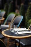Stylish outdoor cafe Stock Image