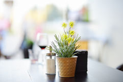 Stylish outdoor cafe Royalty Free Stock Images