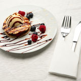 A Stylish Pancakes Dessert Stock Photography