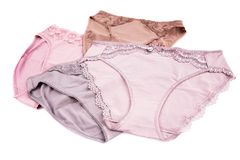 Panties. Stylish panties isolated on white background Stock Photos