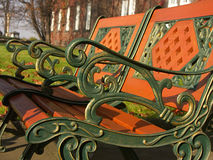 Stylish park bench Royalty Free Stock Image
