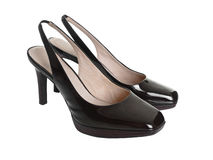 Stylish patent leather shoes Stock Photo
