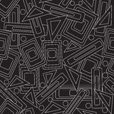 Stylish pattern. Black and white. vector illustration