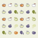 Stylish pattern with color abstract apples. Stylish pattern with color with abstract apples. Vector illustration. The tissue sample with an abstract pattern stock illustration