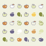 Stylish pattern with color  abstract apples. Vector illustration. Stylish pattern with color with abstract apples. Vector illustration. The tissue sample with Stock Images