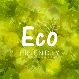 Stylish pattern for Eco Friendly. Royalty Free Stock Images