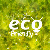 Stylish pattern for Eco Friendly. Stock Photography