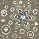 Stylish pattern with flowers Stock Photos