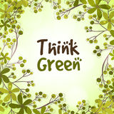Stylish pattern for Think Green. Royalty Free Stock Photo