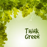 Stylish pattern for Think Green. Stock Photo