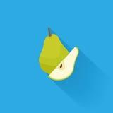 Stylish Pear Isolated On Blue Background Royalty Free Stock Image