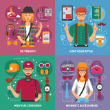 Stylish People Concept Royalty Free Stock Photos
