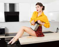 Stylish pin-up housewife Royalty Free Stock Photos