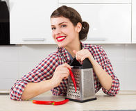 Stylish pin-up housewife Royalty Free Stock Image