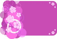 Stylish pink banner Stock Image