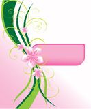 Stylish pink card. With abstract floral elements Stock Photography