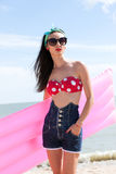 Stylish pinup girl posing Royalty Free Stock Image