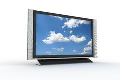 Stylish plasma tv 2 Royalty Free Stock Image