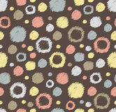 Stylish polka dot seamless patterns. Stock Photo