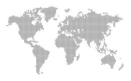 Dotted World map royalty free illustration