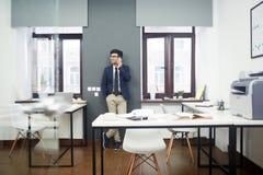 Stylish Portrait of Bearded Entrepreneur Royalty Free Stock Photo
