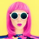 Stylish portrait of a bright girl Stock Photo