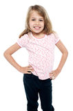 Stylish portrait of a charming young girl child Royalty Free Stock Photo