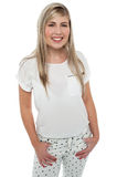 Stylish portrait of a fashionable happy teen girl Royalty Free Stock Photography
