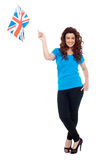 Stylish portrait of female UK supporter Royalty Free Stock Photos