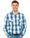 Stylish portrait of a handsome guy stock image