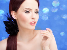 Stylish portrait of a stunning woman Royalty Free Stock Images