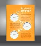 Stylish presentation of business poster Stock Photos