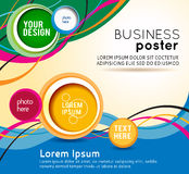 Stylish presentation of business poster Stock Images