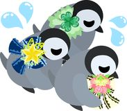 The illustration of pretty penguin baby Royalty Free Stock Photography