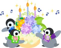 The illustration of pretty penguin baby Stock Photos