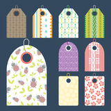 Stylish price clothes tag with pattern sale card stickers collection paper blank business promotion badge vector Royalty Free Stock Photo