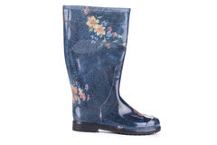 Stylish printed wellington boots. Stock Photo