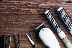 Stylish Professional Barber Clippers, Hair Clippers, Hair sciss royalty free stock image