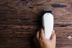 Stylish Professional Barber Clippers, Hair Clippers, Haircut acc Royalty Free Stock Photos