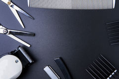 Stylish Professional Barber Scissors, Hair Cutting and Thinning Stock Image