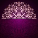 Stylish purple background with a light circular lace pattern. Royalty Free Stock Photography