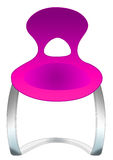 Stylish purple chair Stock Image