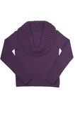 Stylish purple sweater on a white. Royalty Free Stock Photos