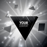 Stylish pyramid cover design Royalty Free Stock Image