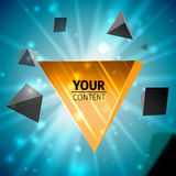 Stylish pyramid cover design Stock Image