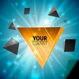 Stylish pyramid cover design Stock Image