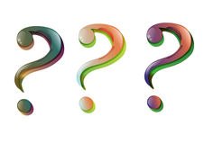 Stylish question mark (vector) Stock Image