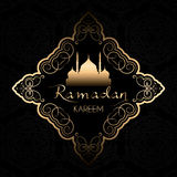 Stylish Ramadan Kareem background Royalty Free Stock Photo